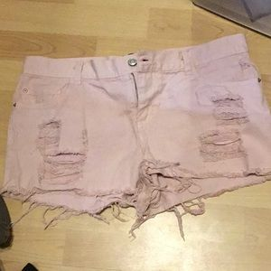 Light pink shorts